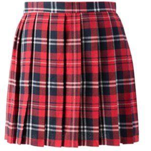 Red Plaid Tennis Skirt